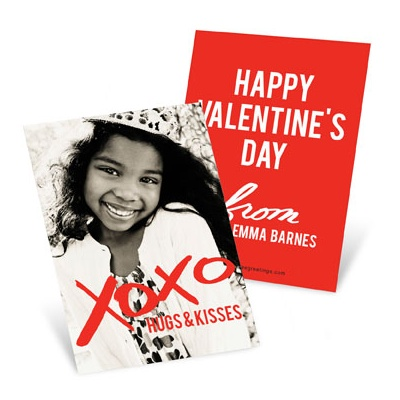 Hugs From Me Valentine's Day Cards For Kids