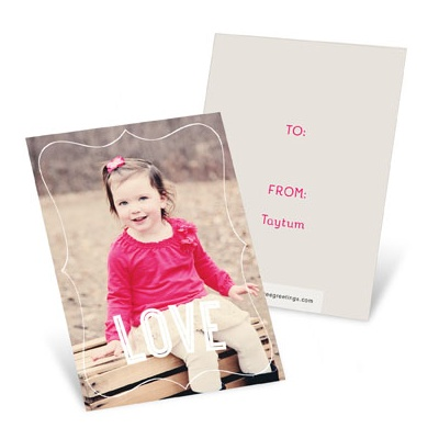 Framed Vertical Photo Valentine's Day Cards For Kids