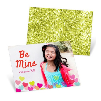 Heart Sprinkles Pink Valentine's Day Cards For Kids