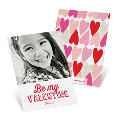 Textured Look Greeting Valentine's Day Cards For Kids