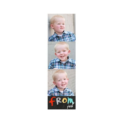 Photo Paper Blue & Gold Valentine's Day Cards For Kids