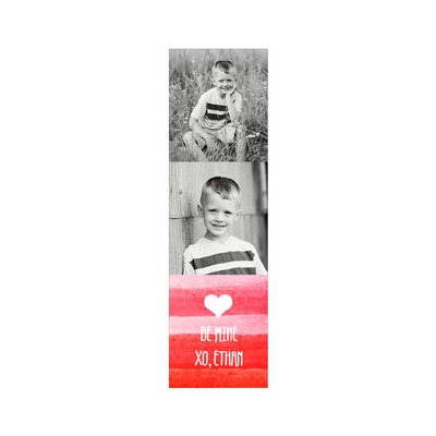 Photo Paper Red Watercolor Valentine's Day Cards For Kids