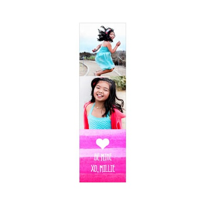 Photo Paper Pink Watercolor Valentine's Day Cards For Kids