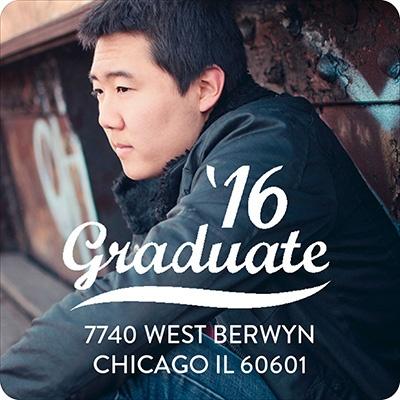 Old School Graduation Address Labels