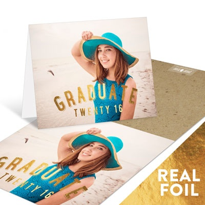 Gold Foil Graduate Graduation Thank You Cards