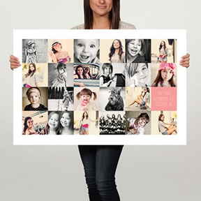 Memory Collage 36x24 Custom Poster -- Graduation Party Decorations