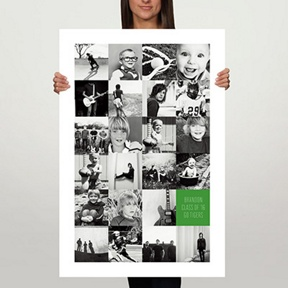 Tall Collage 24x36 Custom Poster -- Graduation Party Decorations
