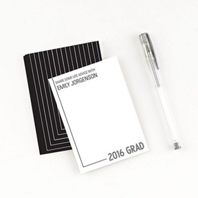 Striped Success Comment Cards -- Graduation Party Decorations