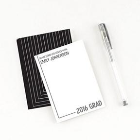 Striped Success Comment Cards -- Graduation Party Decorations