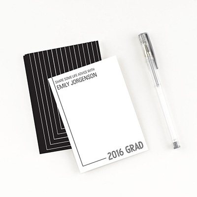 Striped Success Comment Cards Graduation Party Decorations