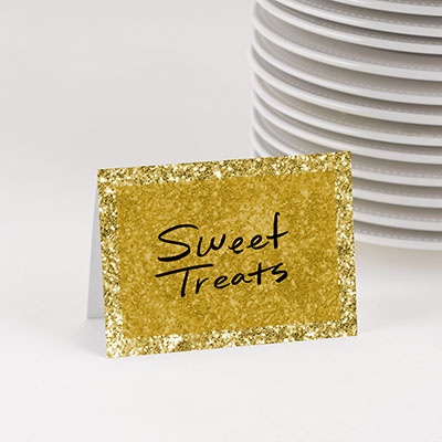 Faux Glitter Table Cards Graduation Party Decorations