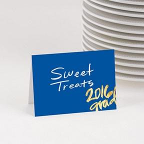 Faux Foil Grad Year Table Cards -- Graduation Party Decorations