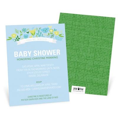 Whimsical Wonder Boy Baby Shower Invitations