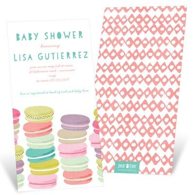 Pretty Macarons Baby Shower Invitations