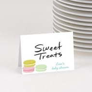 Pretty Macarons Table Cards Baby Shower Decorations