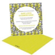 Chartreuse Petals Baby Shower Invitations