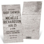 Rustic Wood Placard Baby Shower Invitations