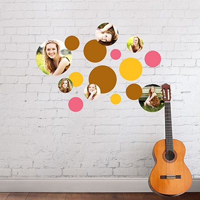 Circles Everywhere Wall Decals Graduation Party Decorations