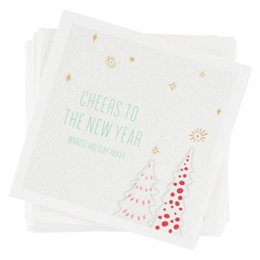 Twinkling Trees Napkins -- Party Decorations