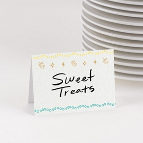 Twinkling Trees Table Cards -- Party Decorations