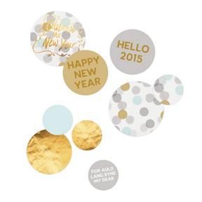 Festive Gold Faux Foil Table Decor -- Party Decorations