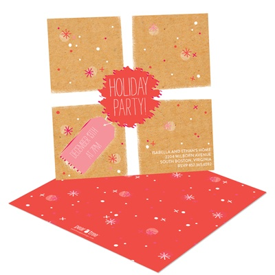 Surprise Package Holiday Party Invitations
