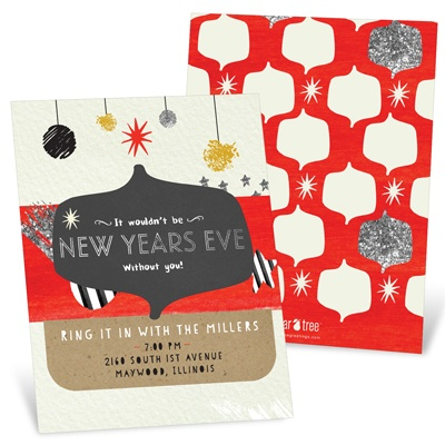 Ring It In Holiday Party Invitations