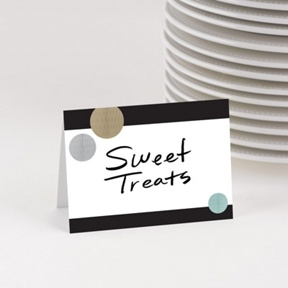 Jolly Gold Table Cards -- Party Decorations