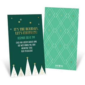 Gilded Trees -- Holiday Party Invitations