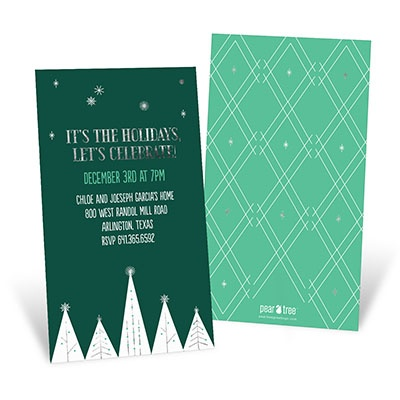 Sterling Trees Holiday Party Invitations