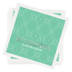 Sterling Stars Napkins -- Party Decorations