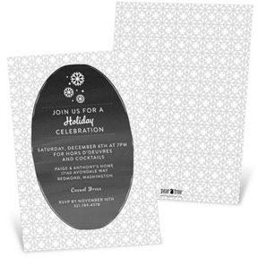 Gray Winter -- Holiday Party Invitations