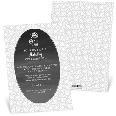 Gray Winter Holiday Party Invitations