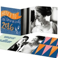 Champagne Taste Trifold New Year's Cards