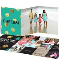 Dotted Faux Foil Cheer New Year's Cards