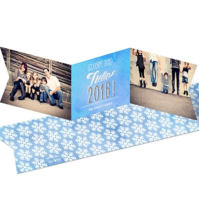 Faux Glitter Year Ribbon New Year's Cards