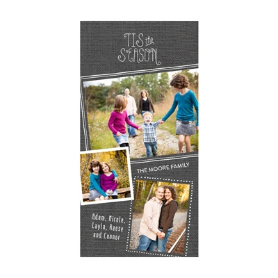 Photo Paper Sketched Frames Holiday Photo Cards