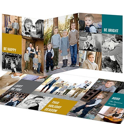 Photo Filled Greeting Holiday Photo Cards