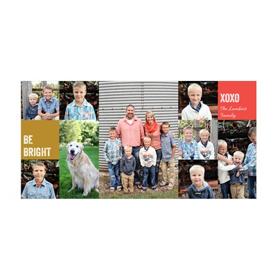 Photo Paper Family Spread Holiday Photo Cards