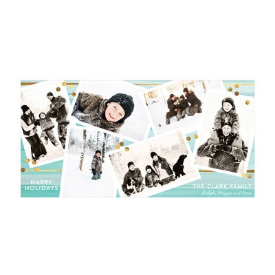 Photo Paper Snapshots & Sequins Holiday Photo Cards