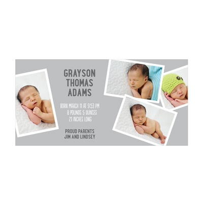 Photo Paper Precious Boy Moments Birth Announcements