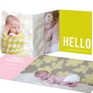 Special Delivery Girl Trifold Birth Announcements