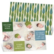 Baby Photo Blocks Baby Boy Announcements