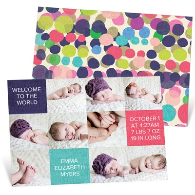 Baby Photo Blocks Baby Girl Announcements