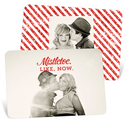 Modern Messages Holiday Photo Cards