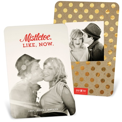 Modern Messages Vertical Holiday Photo Cards