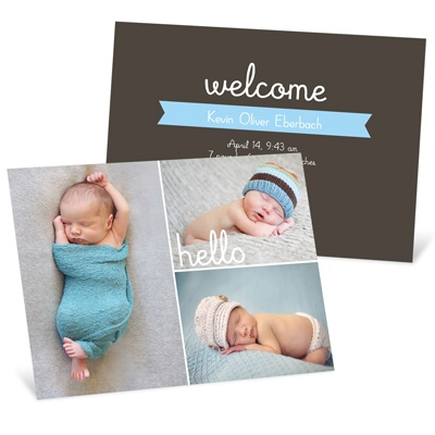 First Introductions Boy Birth Announcements
