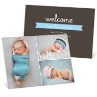 First Introductions Baby Boy Announcements