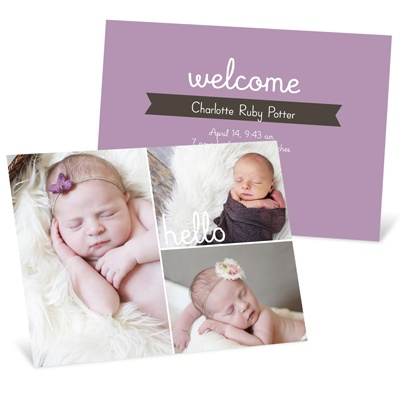 First Introductions Girl Birth Announcements