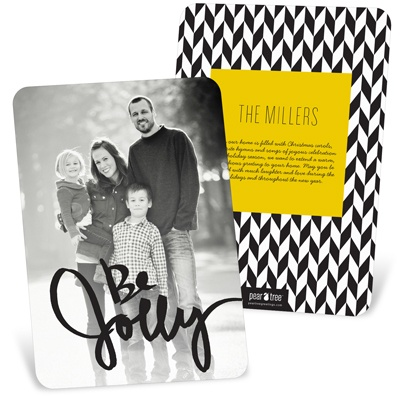 Be Jolly Vertical Holiday Photo Cards